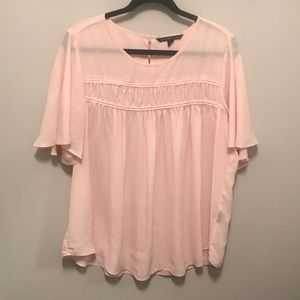 Gorgeous Blush Pink Blouse! Size 1X